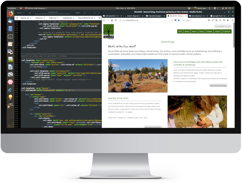 Web design, development & hosting