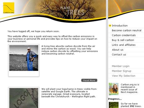 Carbon.org.nz Website