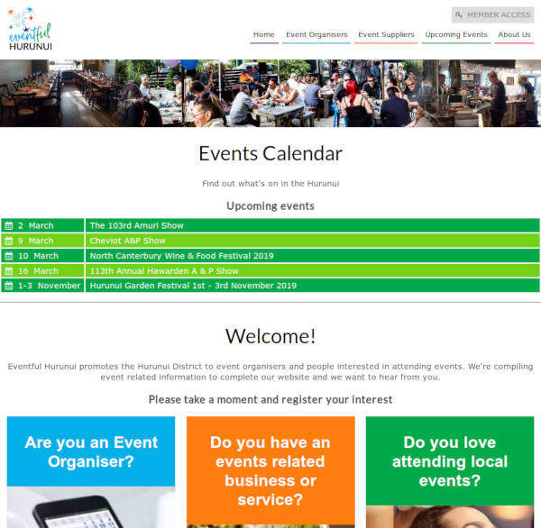 Eventful Hurunui - event calendar & business listings