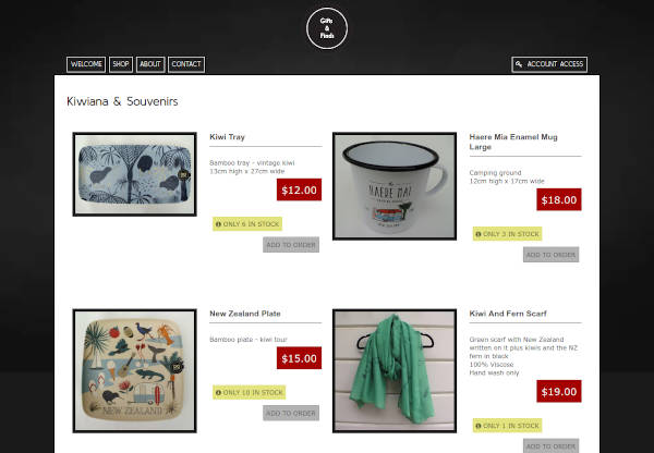 Gifts & Finds Online Store