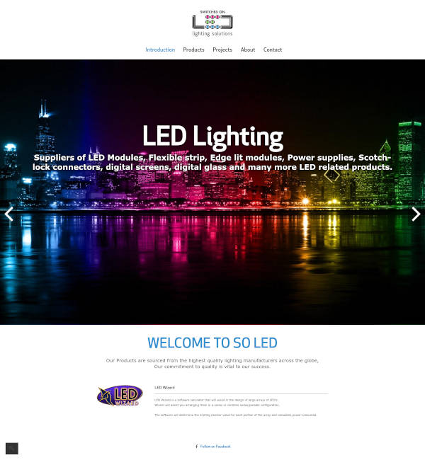 Switched on LED
